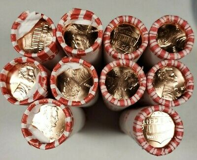 2019-P & D Lincoln Shield Cent Rolls Set *(1) P & (1) D* Penny from Bank Box BU