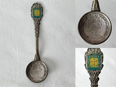 Vintage Tenerife Souvenir Collector Spoon With Enamelled Decal
