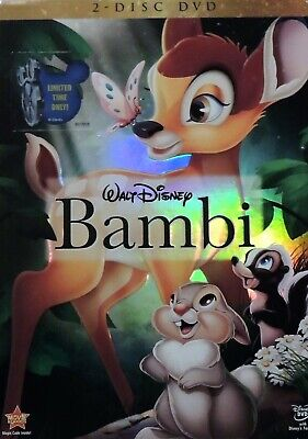 Bambi (DVD, 2011, 2-Disc Set) with Slip Cover NICE!