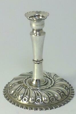 """Victorian hallmarked Sterling Silver Taper Candlestick (2.6"""")– 1891 by W. Comyns"""