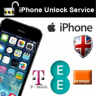 UNLOCK CODE SERVICE FOR iPhone 4 to XS Max EE T-MOBILE UK 3 -7 working days