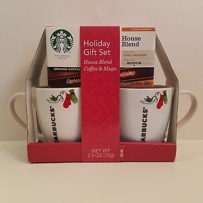 2 Starbucks NWT in Gift pack Christmas Xmas Mugs Cups Original with House Blend