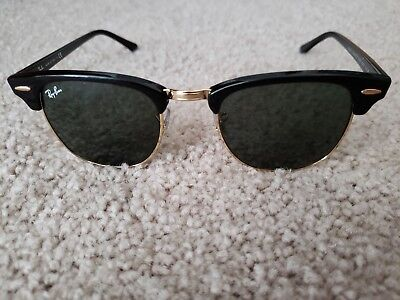 039a94ca52284 Ray-Ban Clubmaster Classic Sunglasses RB3816 901 58 Black Gold Polarized