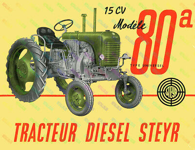 Steyr 80a Vintage Tractor  Poster (A3) - (3 for 2 offer)