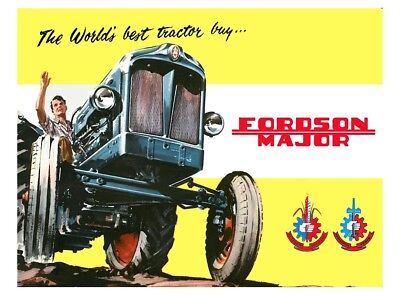 Fordson Major Tractor - Poster (A3) - (3 for 2 offer)