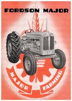 FORDSON Major Tractor Advertising - Poster (A3) - (3 for 2 offer)