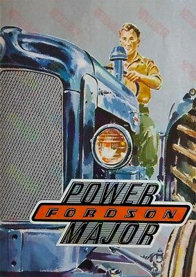 Fordson Power Major Tractor - Brochure Inspired Poster (A3) - (3 for 2 offer)