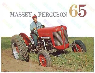 Massey Ferguson  65 Tractor Advertising/Brochure Poster A3 - (3 for 2 offer) NEW
