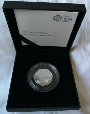 2019 Steven Hawkins Uk 50P Silver Proof Piedfort Coin Limited To 2500