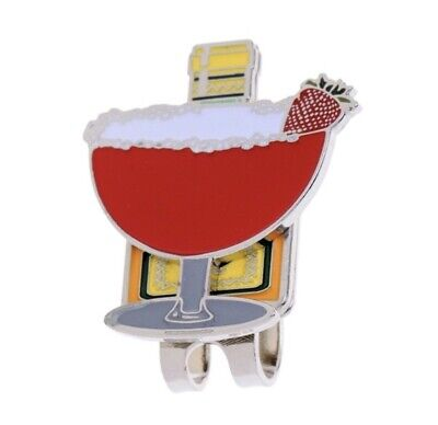 Caiton Cocktail Glass Golf Ball Marker With Hat Clip