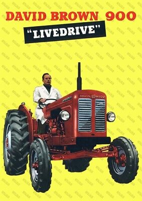 David Brown 900 Tractor Advertising - Poster (A3) - (3 for 2 offer)
