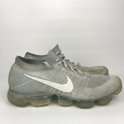 bce14618c Nike Air Vapormax Flyknit Pure Platinum Grey White 849558-004 Mens Size 10