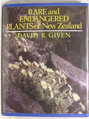 Rare and Endangered Plants of New Zealand, Given, David R., Very Good Book