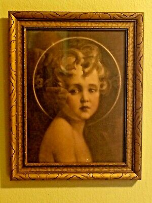 "Vintage ""Light of the World"" by C.Chambers Christ Child Gold Frame 14x11.5"