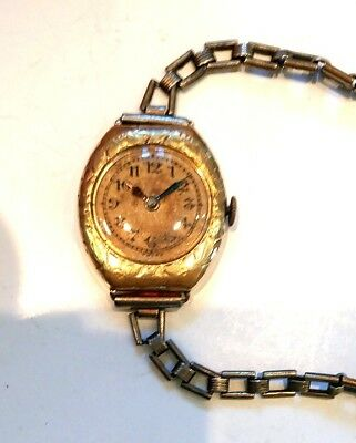 WOMEN'S LECOULTRE WRISTWATCH 15J ca. 1920 - 1940  GF SWISS  }  Parts or Restore