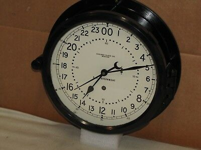 "Chelsea Ships/military Clock~Air Force~8 1/2"" Dial~Missile Silo?~1976~24 Hr Dial"