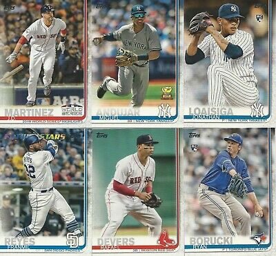 2019 Topps Series 1 Baseball You Pick- Free Shipping Base Inserts Parallels