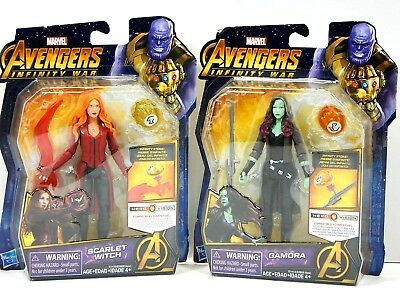 """MARVEL Avengers Infinity War  SCARLET WITCH 6"""" and GAMORA 6""""- Lot of 2 NEW."""