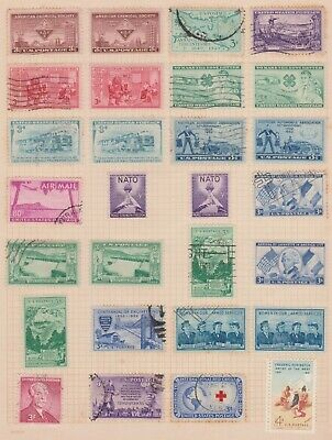 (USK-13) 1950-60 USA mix of 28 stamps value to 80c (toning)(M)
