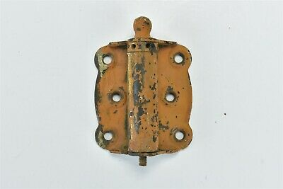 Antique SPRING LOADED SCREEN DOOR HINGE HARDWARE BALL FINIAL PAINTED ORANGE 6939