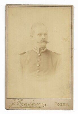 ~1895 Soldier GERMAN IMPERIAL ARMY CABINET CARD Photo Identified POSEN PRUSSIA