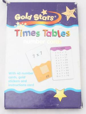 Times Tables Number Cards Multiplication Flash Card Game Kids School Age 6+