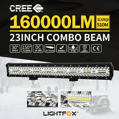 CREE LED Light Bar Spot Flood Driving Lamp Offroad 4WD 4x4 Truck JEEP SUV 23Inch