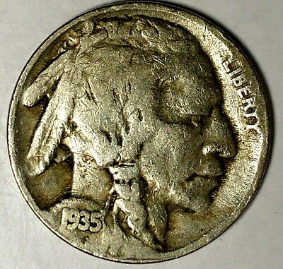 "1935-S 5C Buffalo Nickel, 18cs0708 ""Only 50 Cents for Shipping"""
