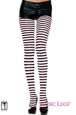 BLACK TIGHTS OPAQUE PATTERNED QUALITY NEW MUSIC LEGS 7070