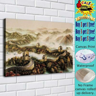 """The Great Wall HD Canvas Print Painting Home Decor room Wall Art Picture 16""""x22"""""""