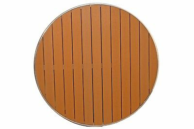 "CLOSEOUT: 24"" Round Gulf Coast Aluminum Poly-Teak Outdoor Restaurant Table Top"