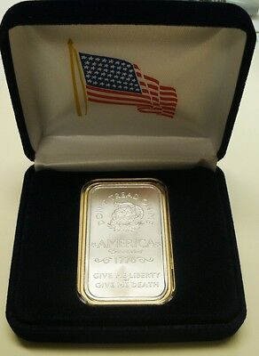 *1-1 Troy oz 999 FN SILVER *Don't Tread On Me* BAR & Cs-Gift/Investmt-Priv Mint!