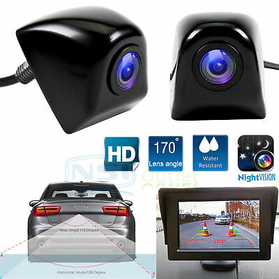 Car & Truck Parts Useful 12v 170° Cmos Waterproof Auto Reversing View Parking Backup Hd Camera Kit White Always Buy Good