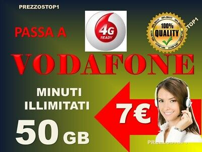 Passa a Vodafone Special 50gb minuti illimitati  7€ x VIRTUALI ... NO HO MOBILE