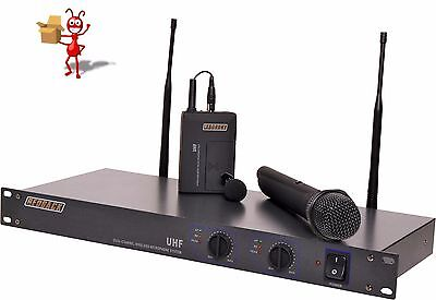 UHF Wireless Microphone System 2 Ch With Handheld & Beltpack