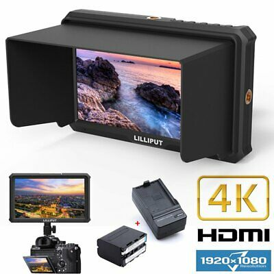 "Lilliput A5 5"" IPS Full HD 1080p 4K HDMI Field Monitor + Battery For DSLR Camera"
