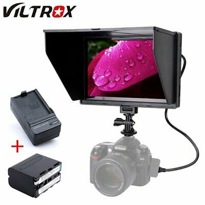 "Viltrox DC-90 HD 4K 8.9"" Field Video Monitor + 6600mAh Battery For DSLR Camera"