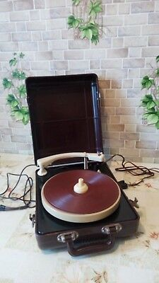 "Vintage USSR 1950"" GRAMOPHONE PHONOGRAPH Portable Record Player - MMZ (EX)"