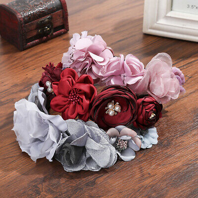 Boho Women's Flower Crown Headband Garland Hairband Wedding Party Hair Wreath