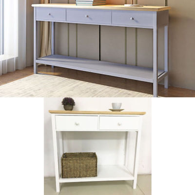 Console Table Sideboard Stunning Hall 2 /3 Drawers Solid Wood & Bottom Shelf