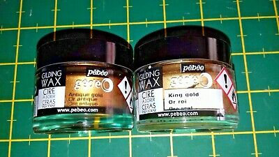 pebeo gedeo gilding wax king & antique gold 30ml.