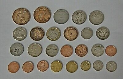 Set Lot 26 PCS Coins From Different Countries