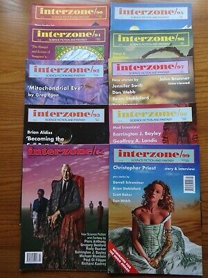 10 issues x INTERZONE #90,91,92,93,94,95,96,97,98 & 99 – 1994  & 1995  -  SF&F