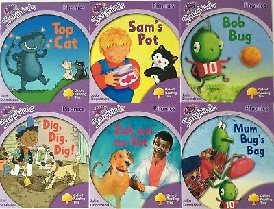 Oxford Reading Tree Songbirds Phonics Stage/Level 1+, 6 books by Julia Donaldson