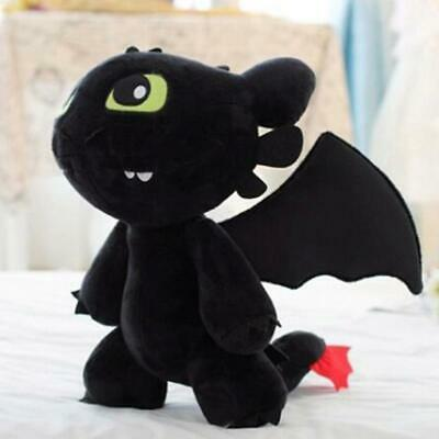 "How to Train Your Dragon Plush Toothless Night Fury Soft Toy Doll Teddy 12"" gift"