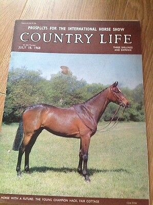 Country Life Magazine  18 July 1968 Horse Show, Miss Angeline Negretti