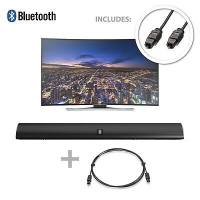 Majority 120W TV Sound Bar Bluetooth 2 Channel Optical Audio Wall Mountable