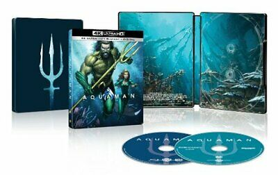 Aquaman ( U.S.Esclusivo Steelbook,4k Ultra HD +Blu-Ray +Digitale Copia, 2018)