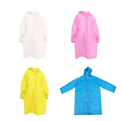 Unisex Kid Children Rainwear Waterproof Hooded Rain Coat Outwear Poncho Raincoat