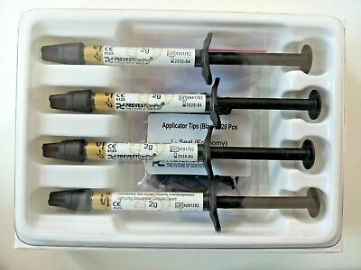 Prevest Denpro Dental Glass Ionomer Cement Syringe Fusion I-Seal Economy Pack 4